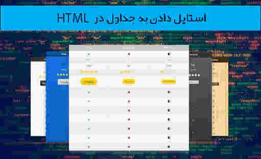 طراحی وب، استایل دادن به جداول در html