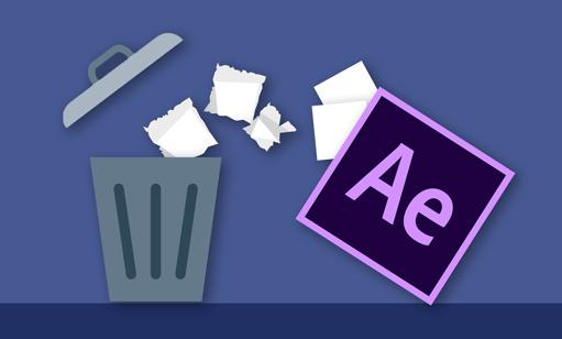 نحوه حذف فایلهای اضافی از پروژه افترافکت