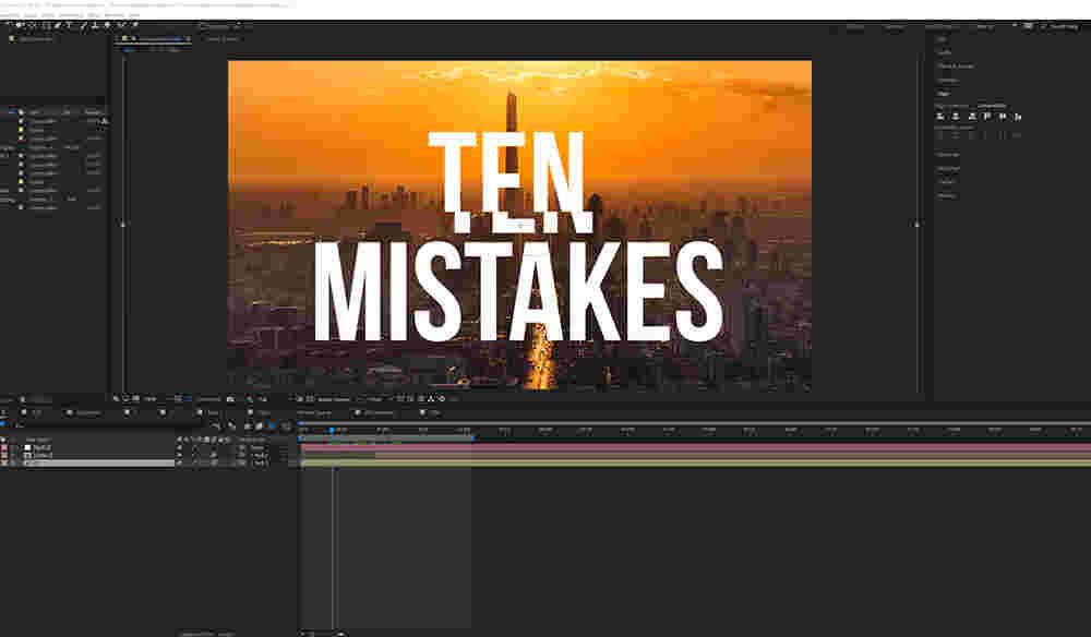 10 اشتباه رایج در افترافکت, افترافکت , after effect , آموزش adobe after effects