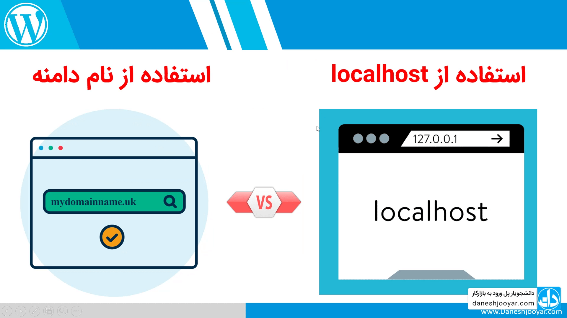 استفاده از دامنه دلخواه به جای localhost