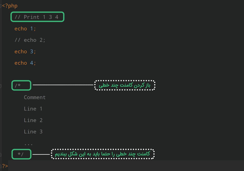 ایجاد توضیحات در ادامه مسیر آموزش نصب php