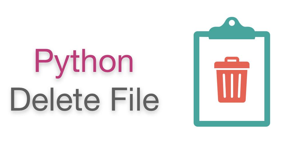 تصویری از حذف فایل در پایتون