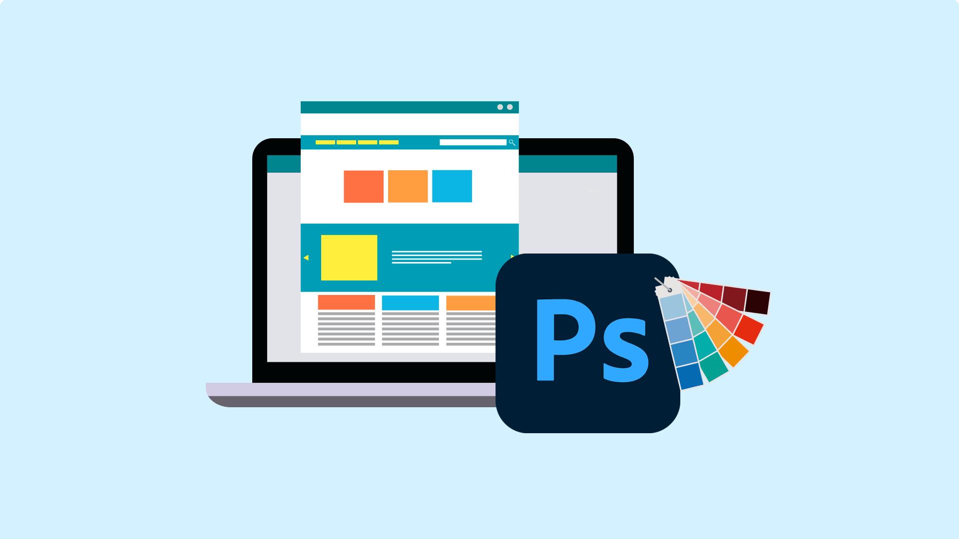 آموزش طراحی قالب سایت با فتوشاپ – صفر تا صد