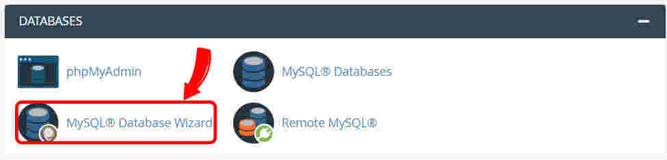 ابزار MySQL Database Wizard جهت ایجاد پایگاه داده