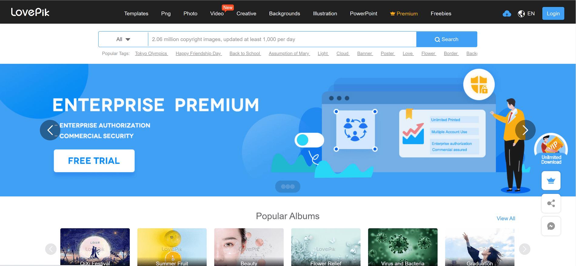 سایت Lovepik.com بهترین سایت نمونه آماده ادیوس